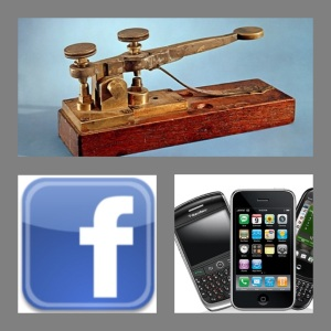 social media, cellphone, media history